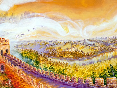 The Bridge To The Wall Finished Mural - Kris Friesen Canadian Mural ...