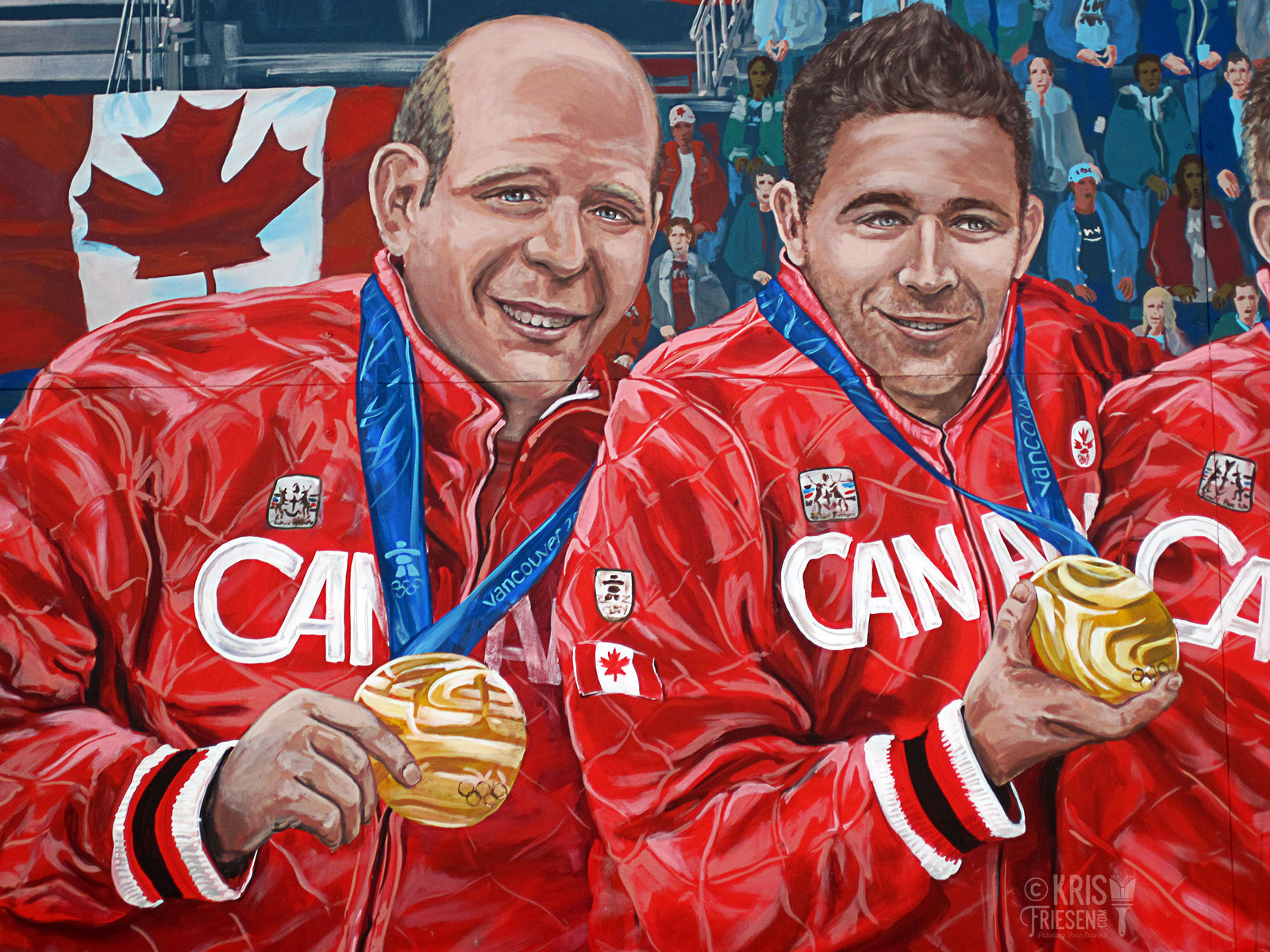 Kevin Martin And John Morris Show Off Their Olympic Gold